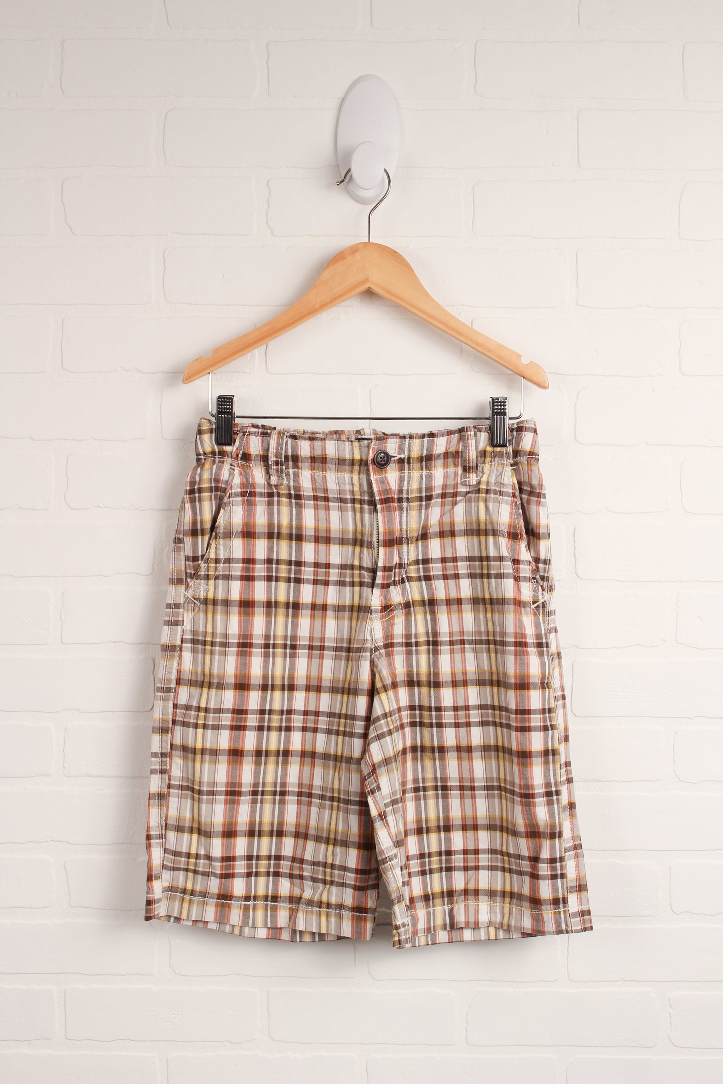 Brown Plaid Shorts (Size 14)