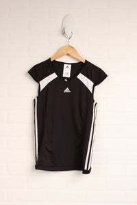 Black Cap Sleeve Athletic Top (Size L/11-12)