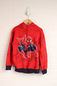 Red Graphic Hoodie: Spiderman (Size L/10-12)