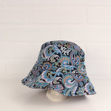 Chambray + Paisley Reversible Bucket Hat (O/S Kids)