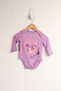 Lilac Graphic Onesie (Size 6M)