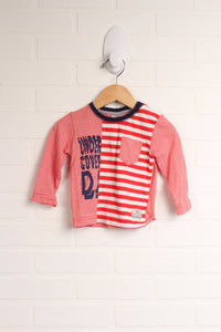 Red + White Graphic T-Shirt (Size 68/6-9M)