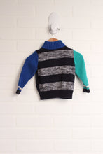 Black + Blue Sweater (Size 74/9-12M)