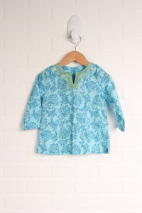 Turquoise Graphic Tunic (Size 18M)