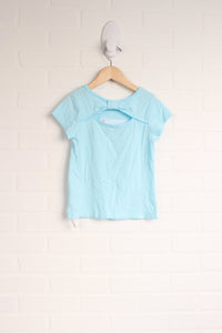 Turquoise + Hot Pink Graphic T-Shirt (Size S/5-6)