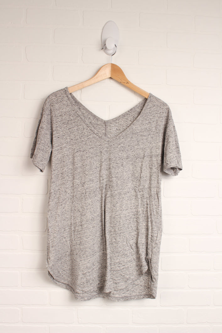 Heathered Grey V-Neck (Maternity Size XS)