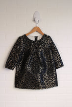 NWOT Black + Gold Party Dress with Bloomers (Size 3T)