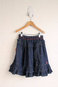 Dark Wash Denim Ruffle Skirt (Size 116/5-6) *STAFF PICK*