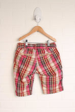 Hot Pink + Gold Plaid Shorts (Size 10)