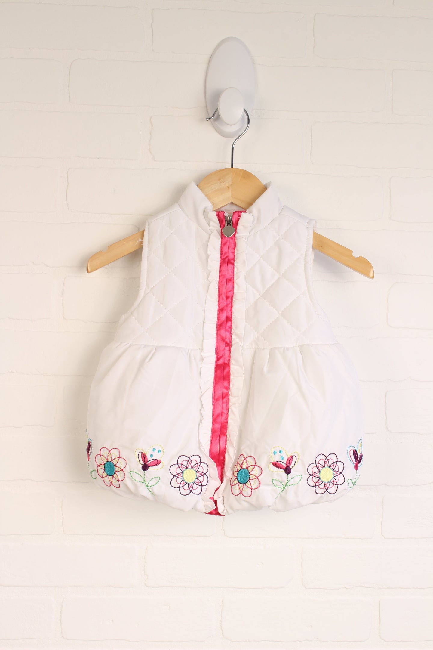 White Puffer Vest (Size 2T)