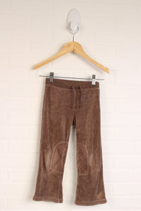 Brown Velour Pants (Size 4)