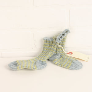 Blue + Lime Knit Socks (Size 3-12M)
