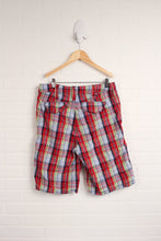 Red + Multi Plaid Shorts (Men's Size 31/M)