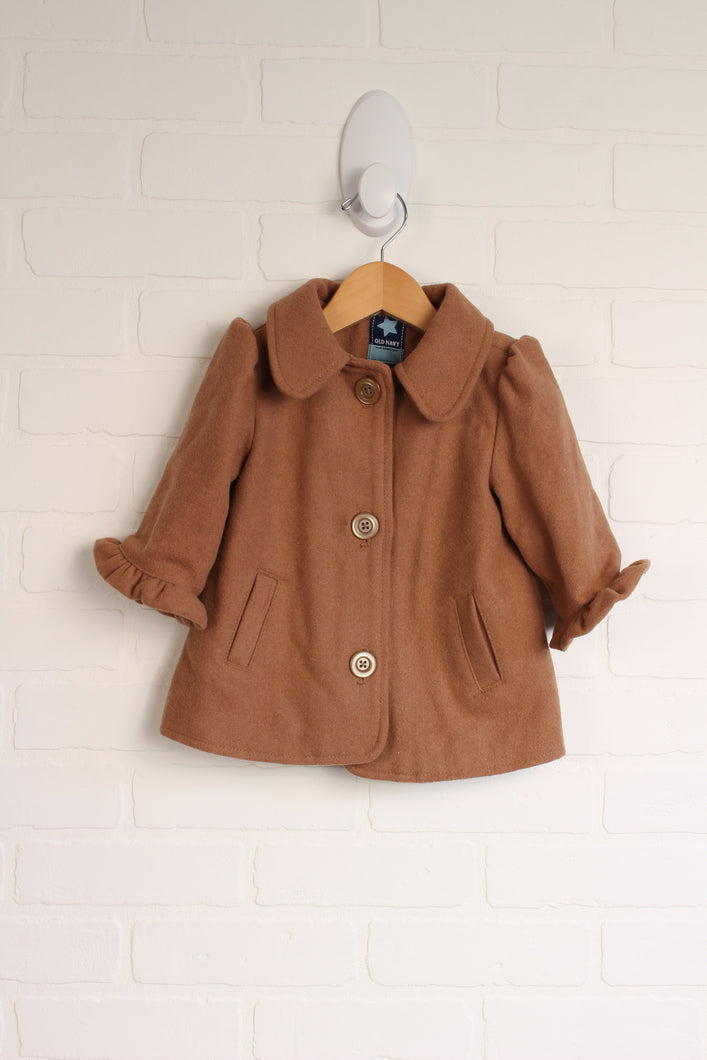 Tan Wool Blend Jacket (Size 6-12M)