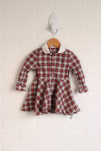 Red + White Plaid Dress (Size 12M)1