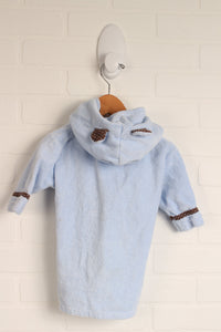 Light Blue Graphic Robe + Finger Puppet (Size 0-9M)