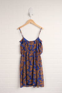 Blue + Mustard Dress (Women's Size S)