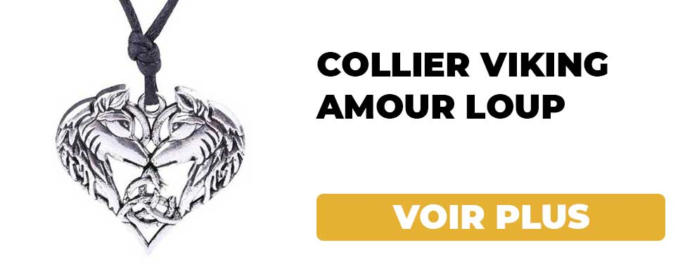 Collier Viking Amour Loup