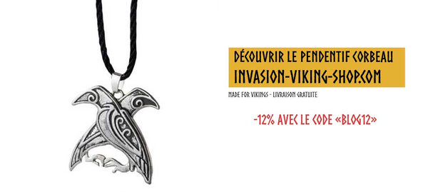 Collier Viking Hugin et Munin