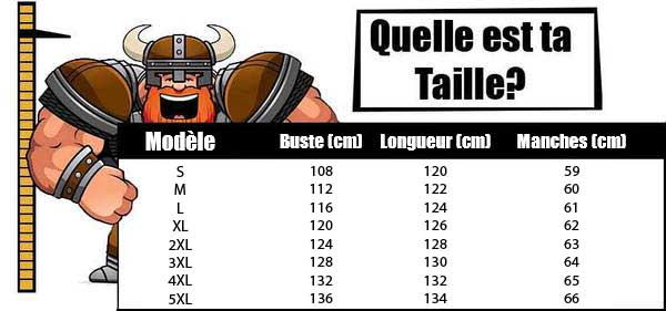 Taille Armure Viking
