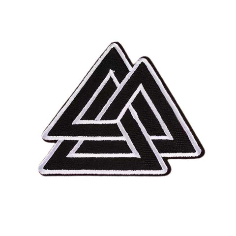 Badge Viking Valknut noir