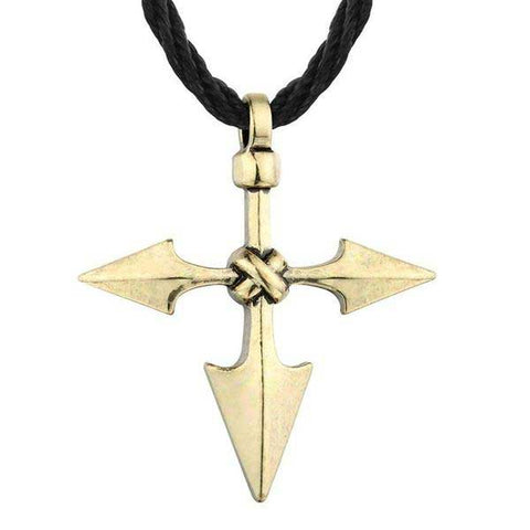 Collier Viking Croix Gungnir Or