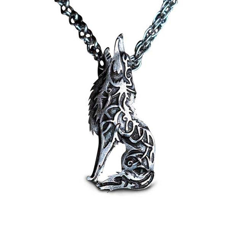 Collier Loup Hurlant