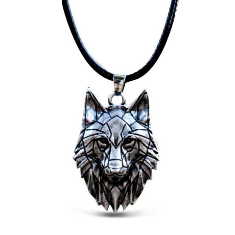Collier Loup Origami