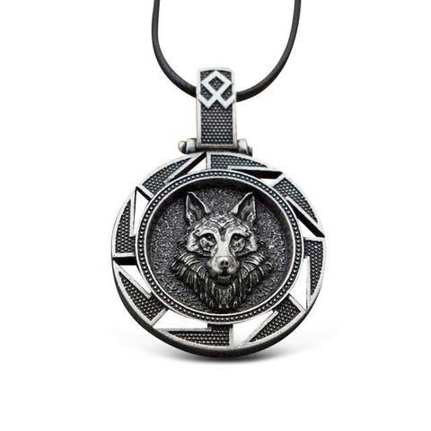 Collier Tribal Loup Viking