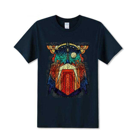 T-shirt Viking Retro bleu
