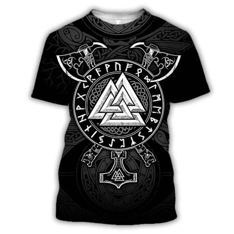 T-shirt Viking Valknut & Haches