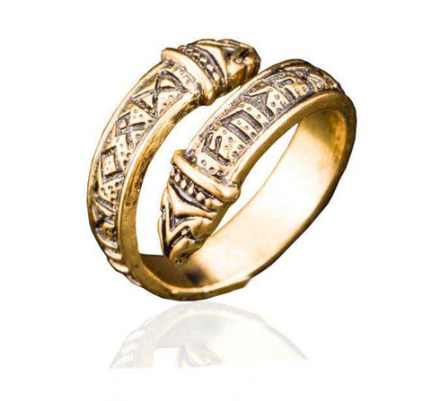 Bague Runes Vikings Or