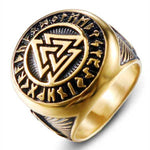 Bague Viking Valknut Or