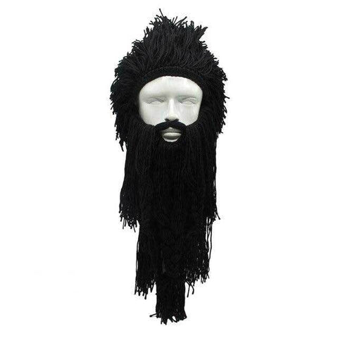 barbe viking deguisement noir