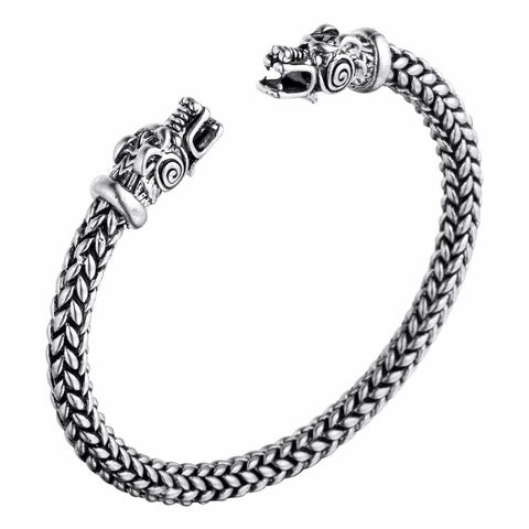Bracelet Viking Dragon d'Argent
