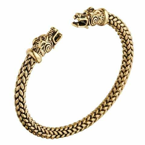Bracelet Viking Dragon Or