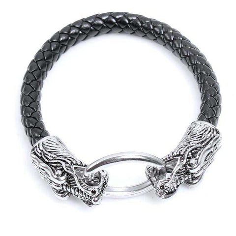Bracelet Viking Tête de Dragons
