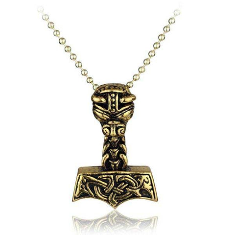 Collier marteau Thor Jarl or