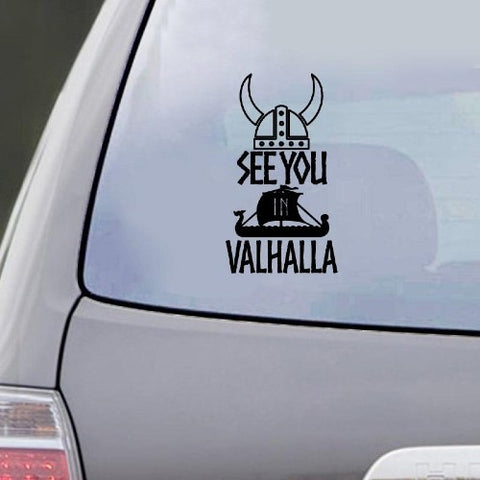 Stickers Viking See You in Valhalla noir