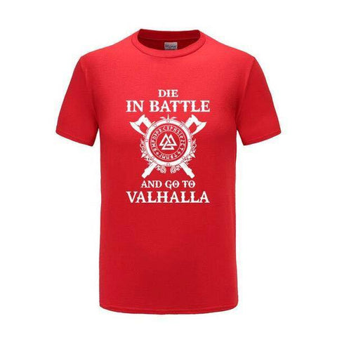 T-shirt Valhalla <br> Rouge