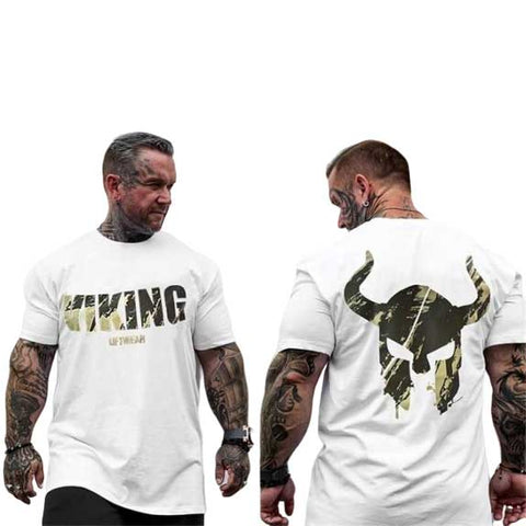 t shirt viking muscu