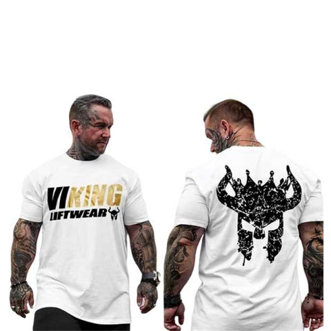 t shirt viking musculation homme
