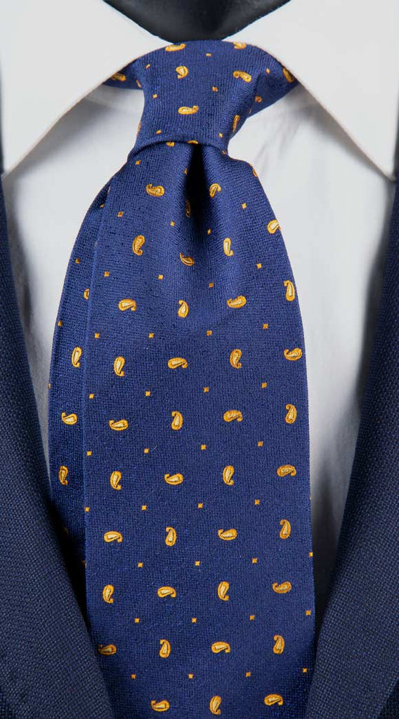 Cravatta-Uomo-Blu-Paisley-Giallo-Made-in-Italy-Graffeo-Cravatte
