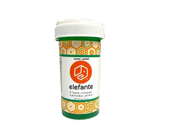 Elefante 5x1g Hash-infused Pre-Rolls