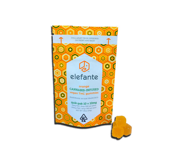 Elefante Quik-Pak Orange 10x10mg 100mg Total THC