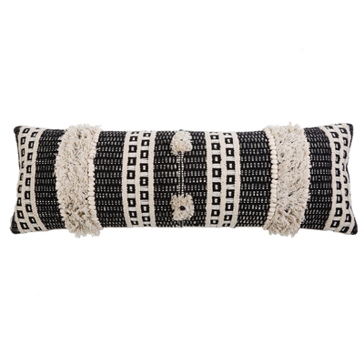 "POM POM SAWYER HAND WOVEN PILLOW 14"" x 40"" WITH INSERT"