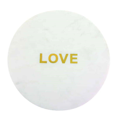 "WHITE MARBLE & GOLD ""LOVE"" BOARD"