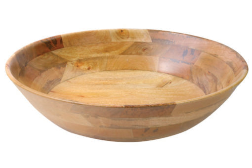 NATURAL MANGO WOOD EXTRA LARGE ROUND BOWL