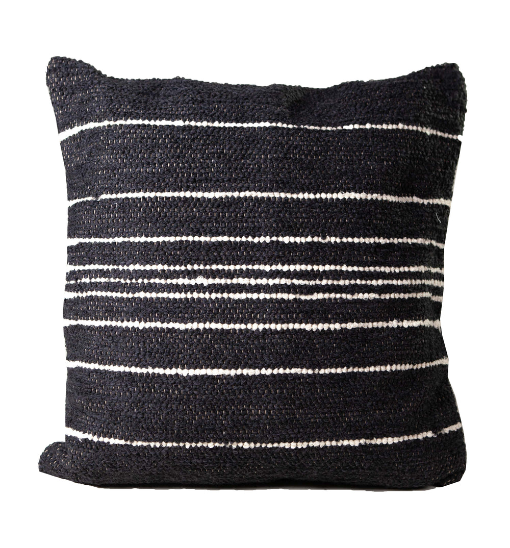 HANDWOVEN CUBISTA PIN STRIPE PILLOW