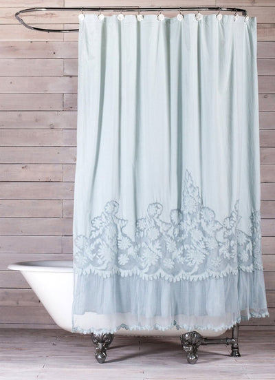 POM POM CAPRICE SHOWER CURTAINS